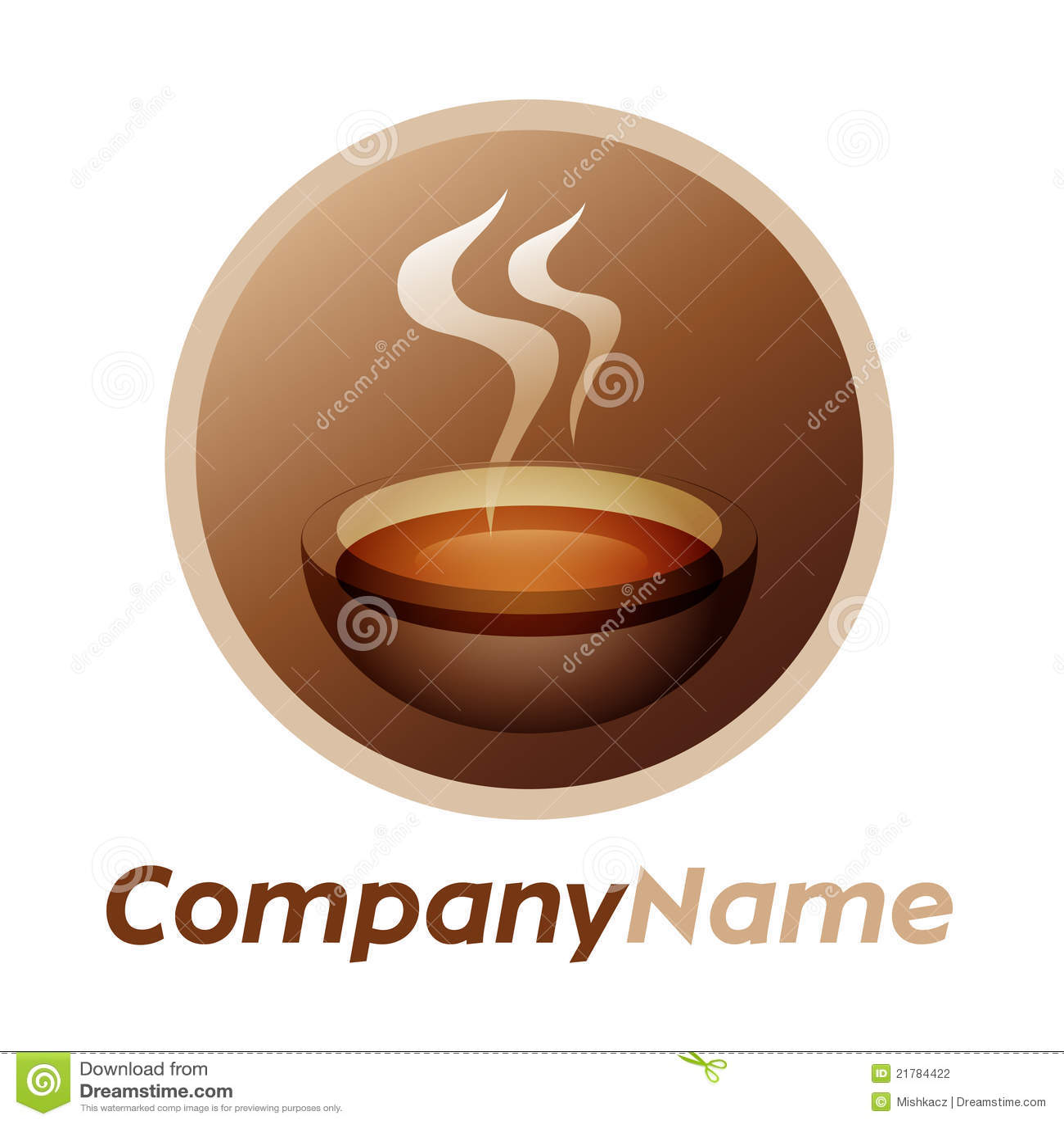 Cup projekta ikony loga herbaty