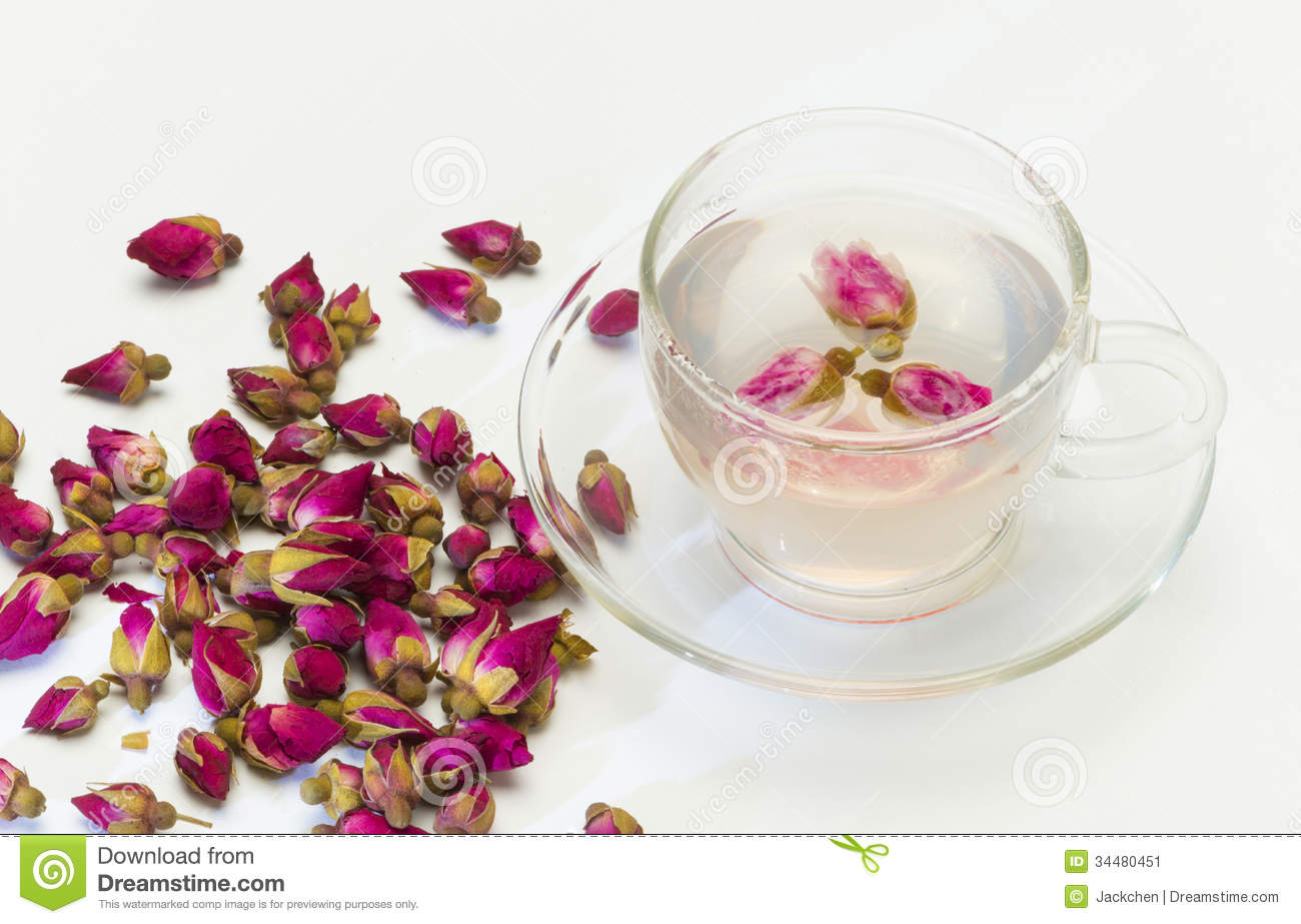 Cup Of Rose Flower Tea Stock Image Image Of Glass Natural 34480451