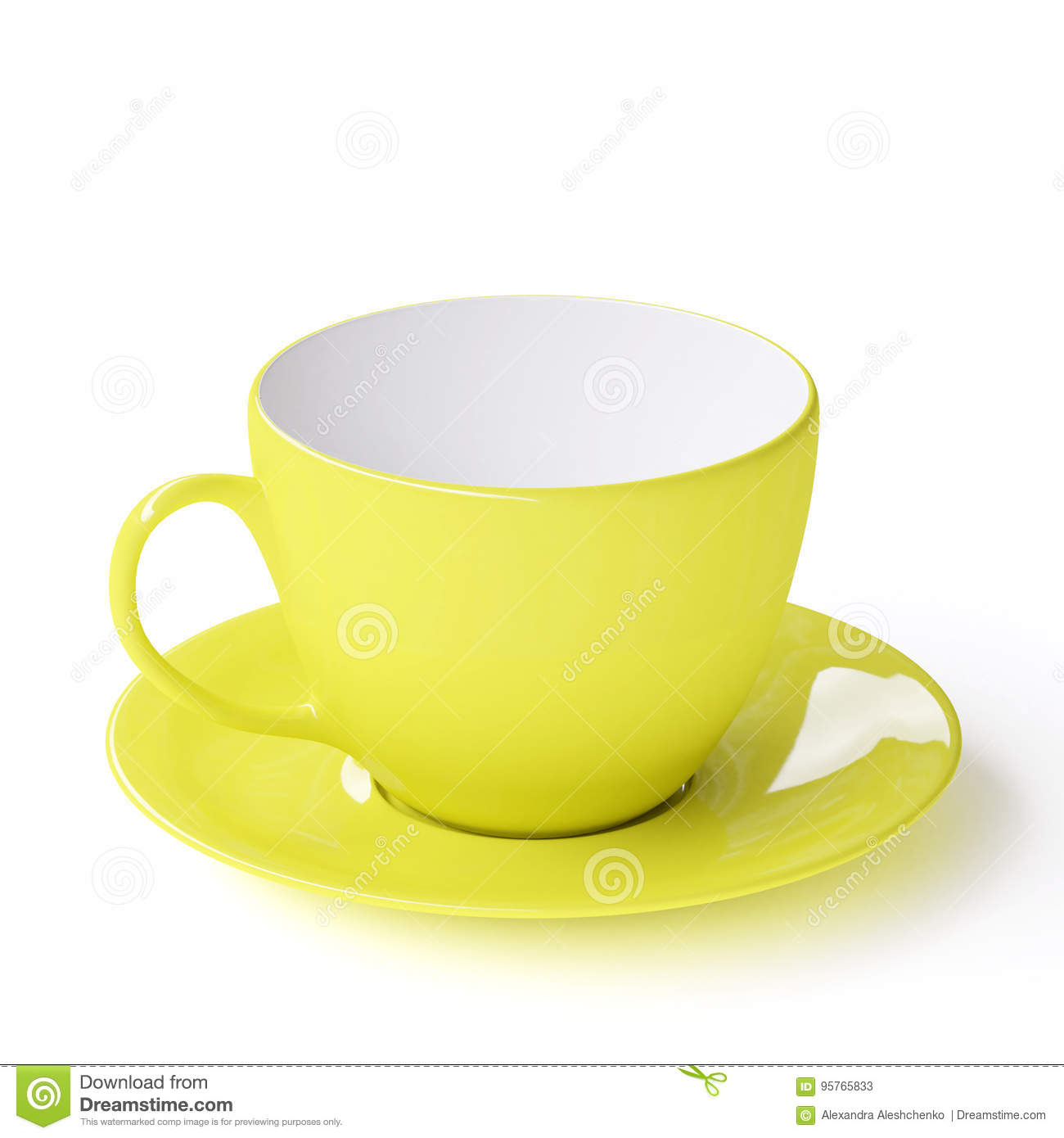 Cup with saucer stock illustration  Illustration of classic - 95765833
