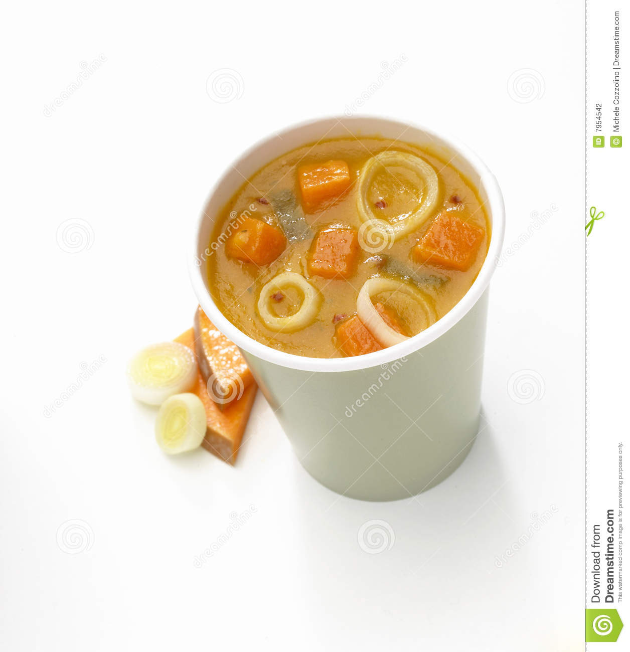 Cup of soup stock photography image 7954542