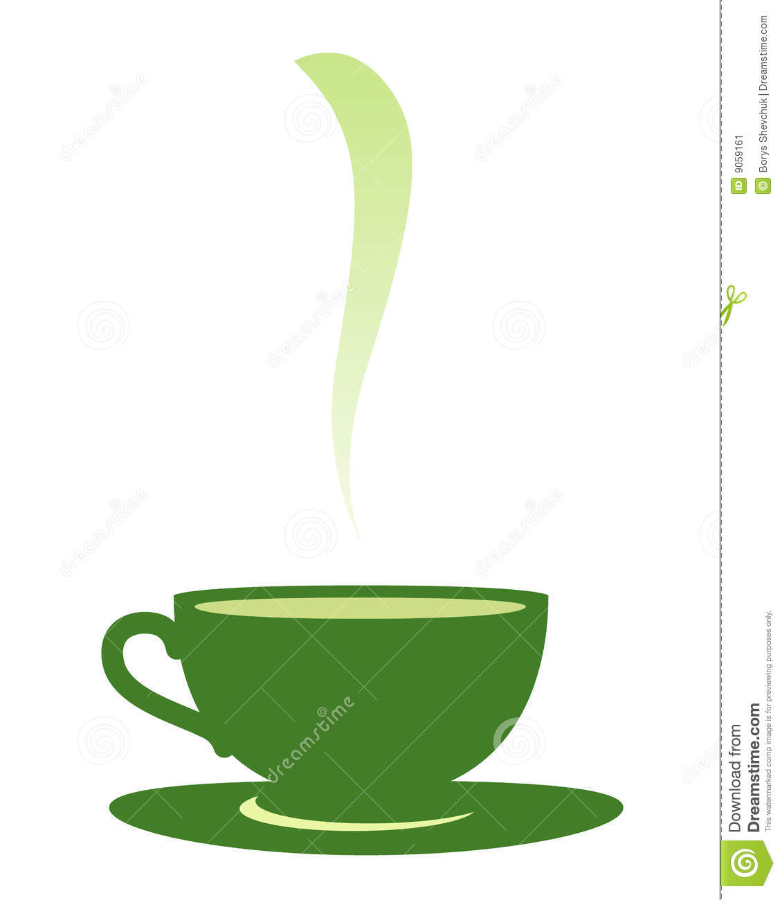 Cup with tea  stock vector  Illustration of colour, healthy