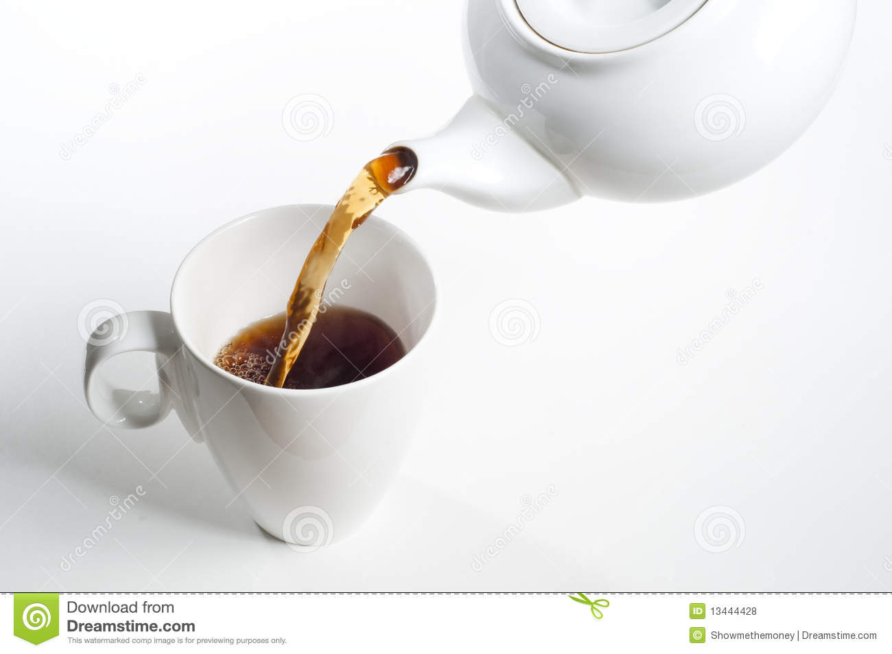 Cup Of Tea Being Poured Stock Photo Image Of Freshness