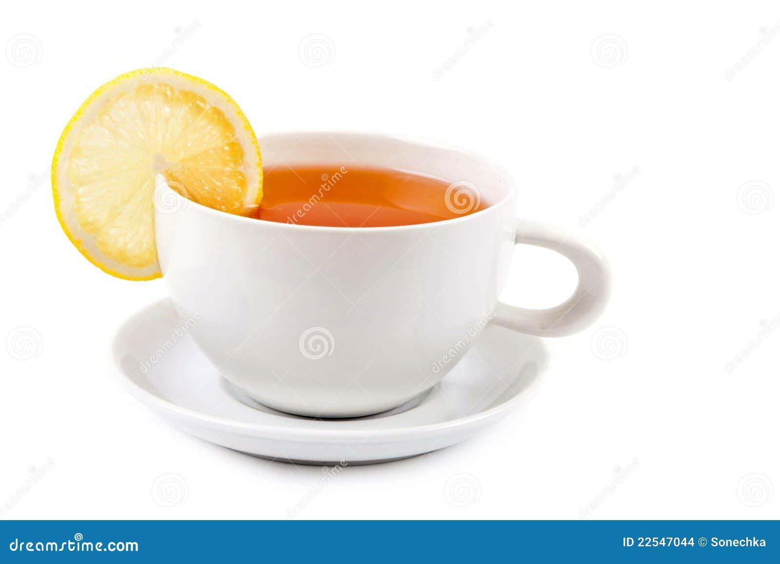 cup of tea with lemon slice stock photo image of horizontal