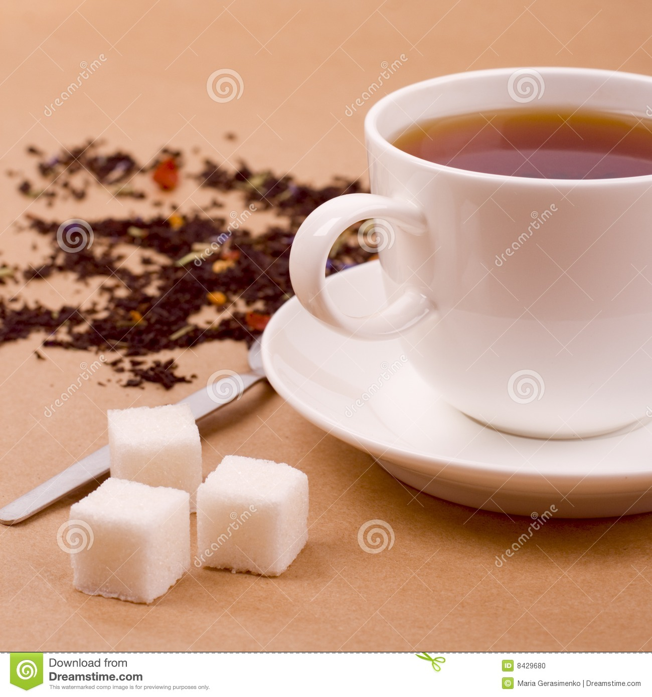 Cup of tea and sugar