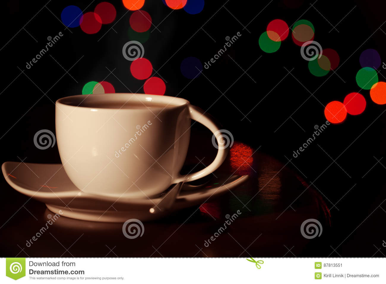 Download A cup of tea stock image. Image of orange, relaxation - 87813551