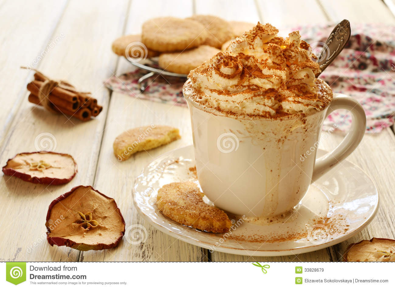 royaltyfree stock photo download cup of whipped cream coffee
