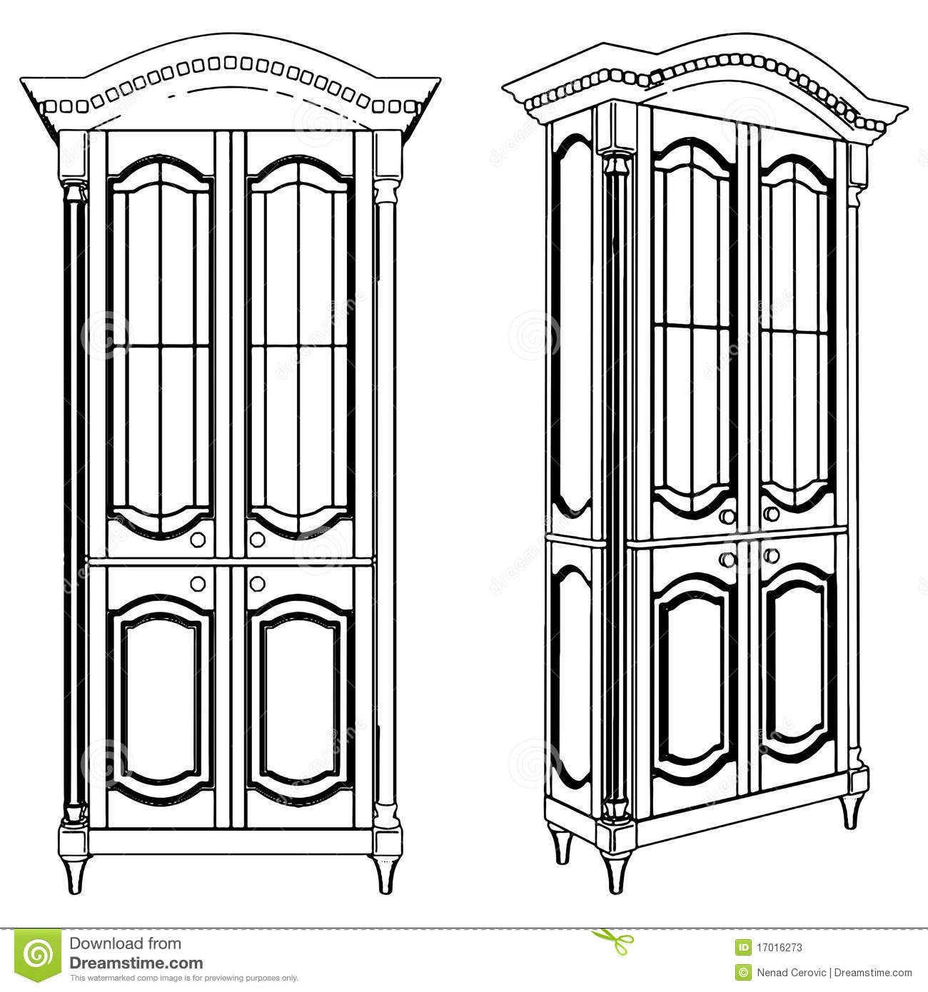 cupboard clipart black and white. cupboard illustration clipart black and white