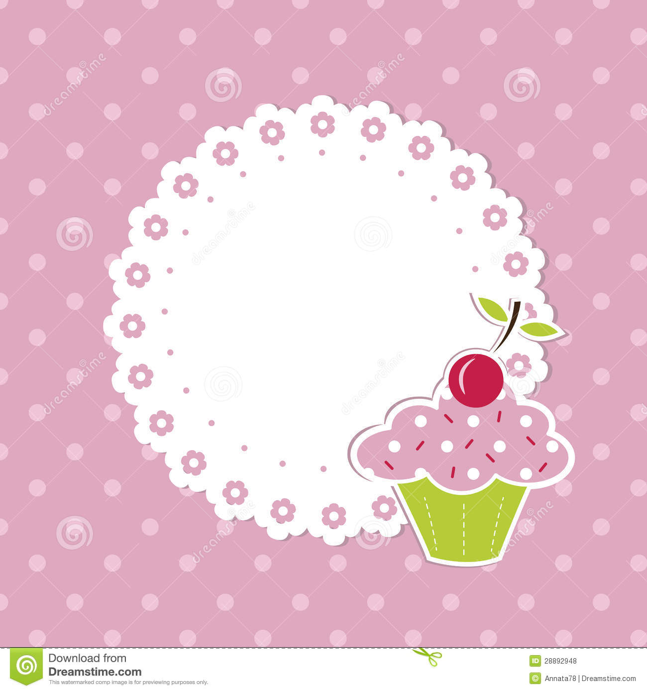 Cupcake Background Royalty Free Stock Photos - Image: 28892948