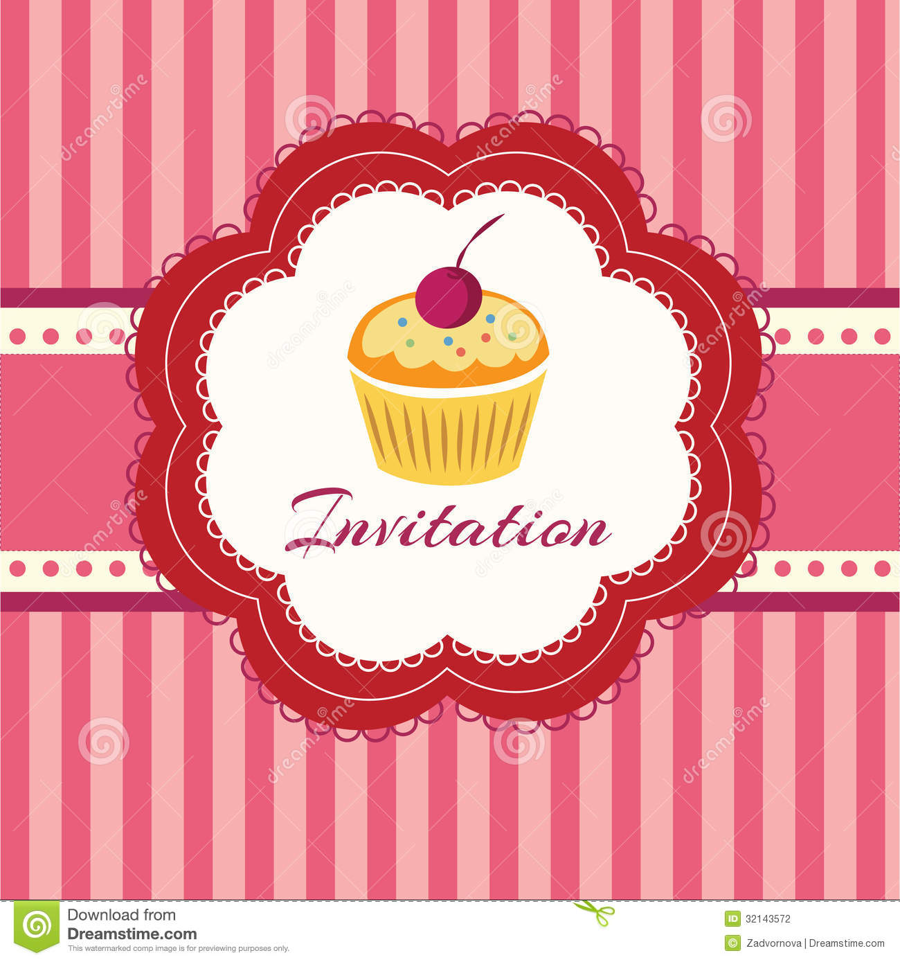 Cupcake Design Vector : Cupcake Background. Invitation Stock Photography - Image ...