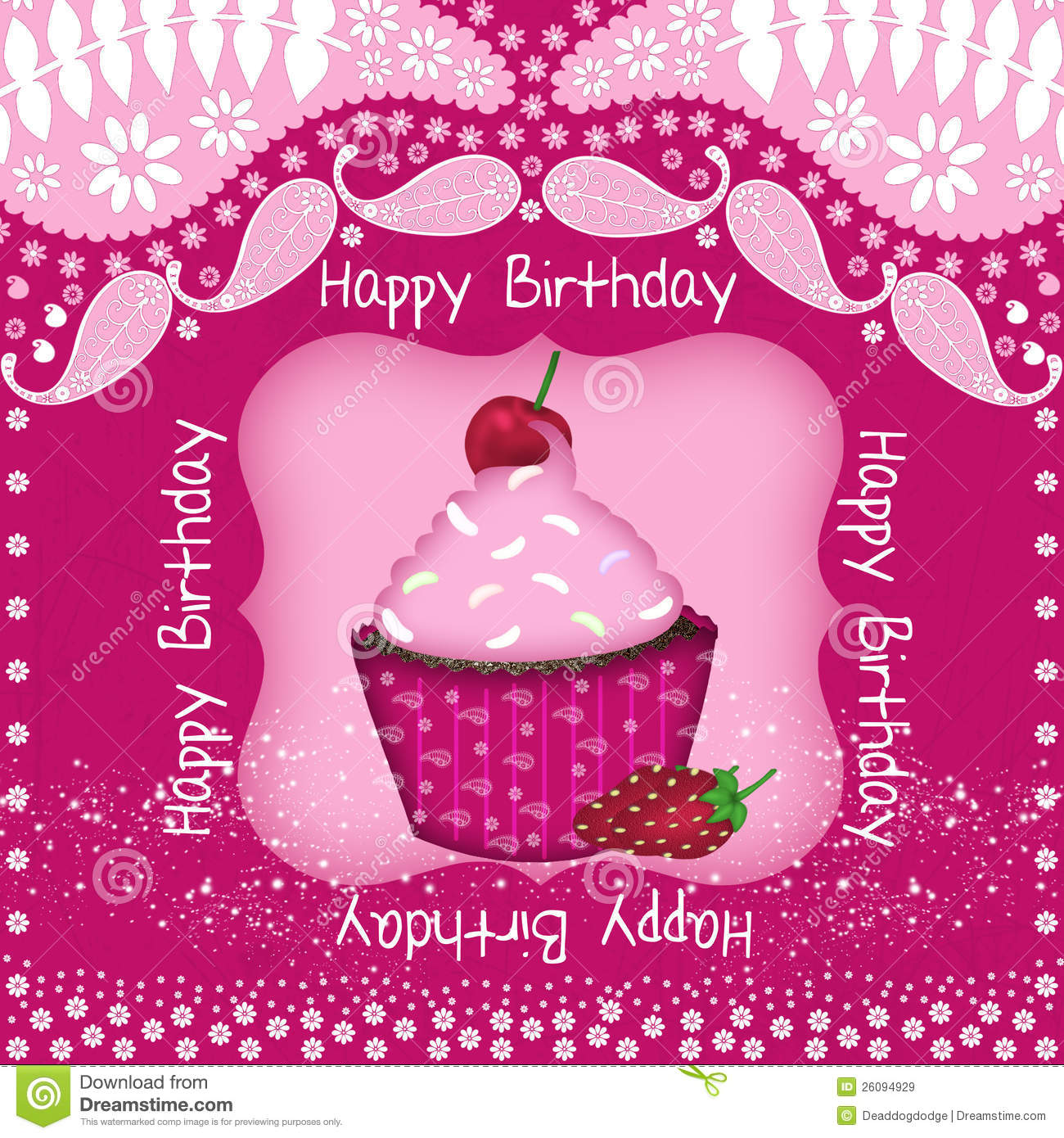 cupcake birthday card royalty free stock images  image, Birthday card