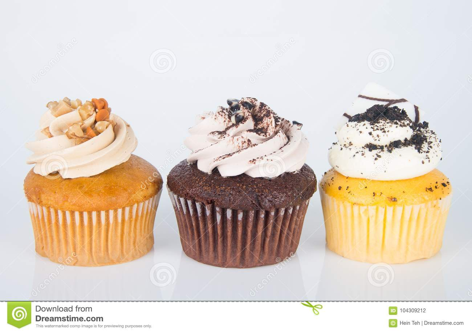 Cupcake bolo do copo no fundo