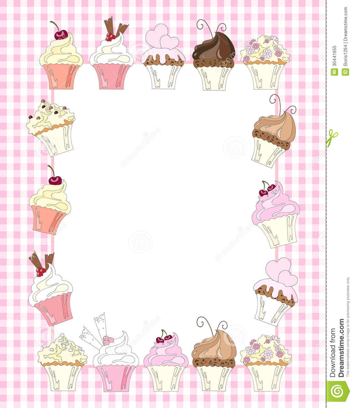 cupcake border royalty free stock photo image 30441655 muffin clip art black and white free muffin clip art black and white