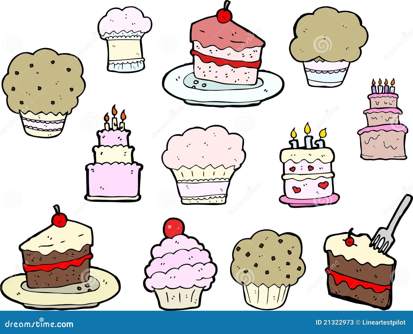 Cupcake And Cake Drawings Stock Photos Image 21322973