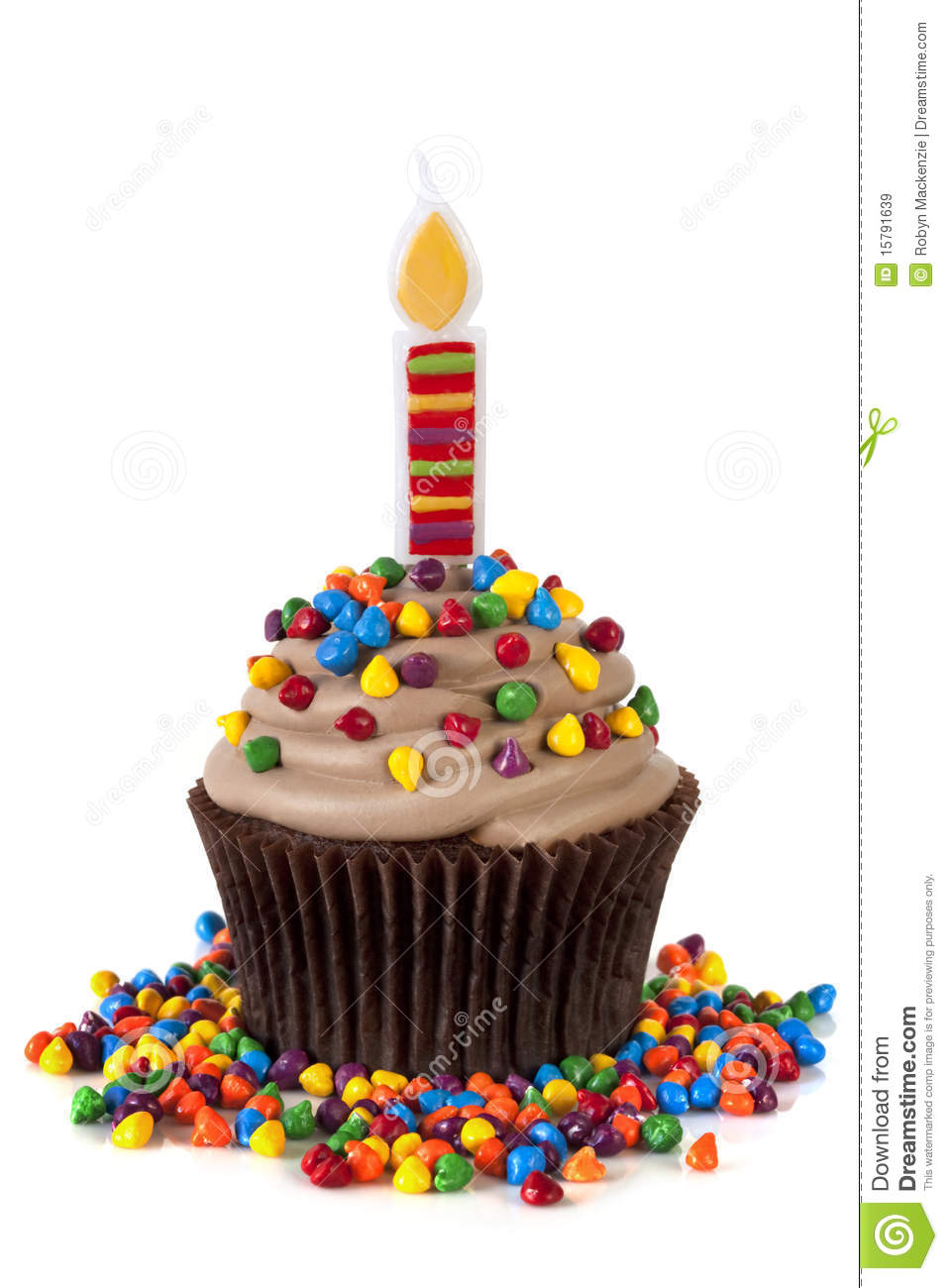 One Birthday Candle Clipart Cupcake With Candle Ro...