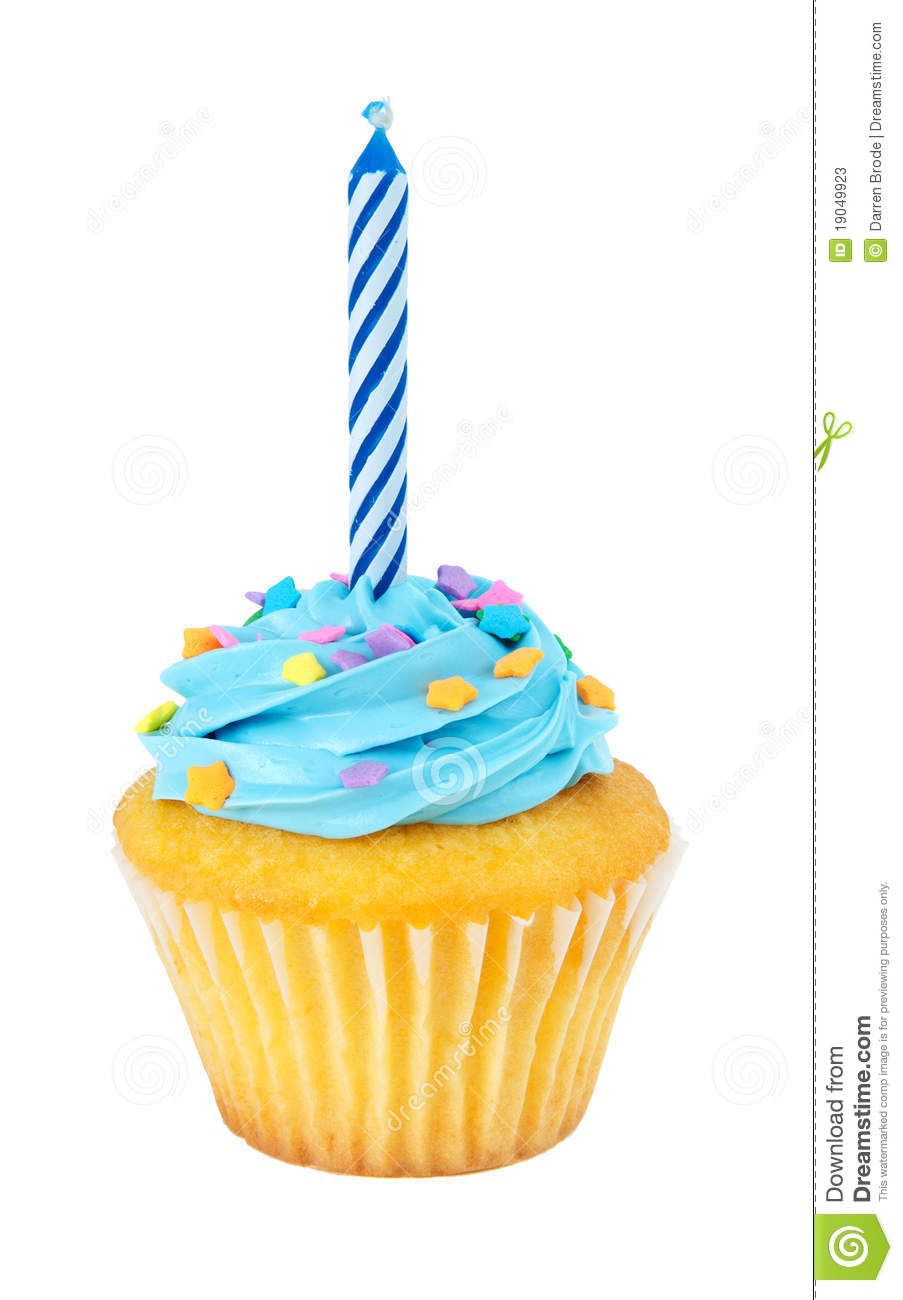 One Birthday Candle Clipart Cupcake With Candle St...