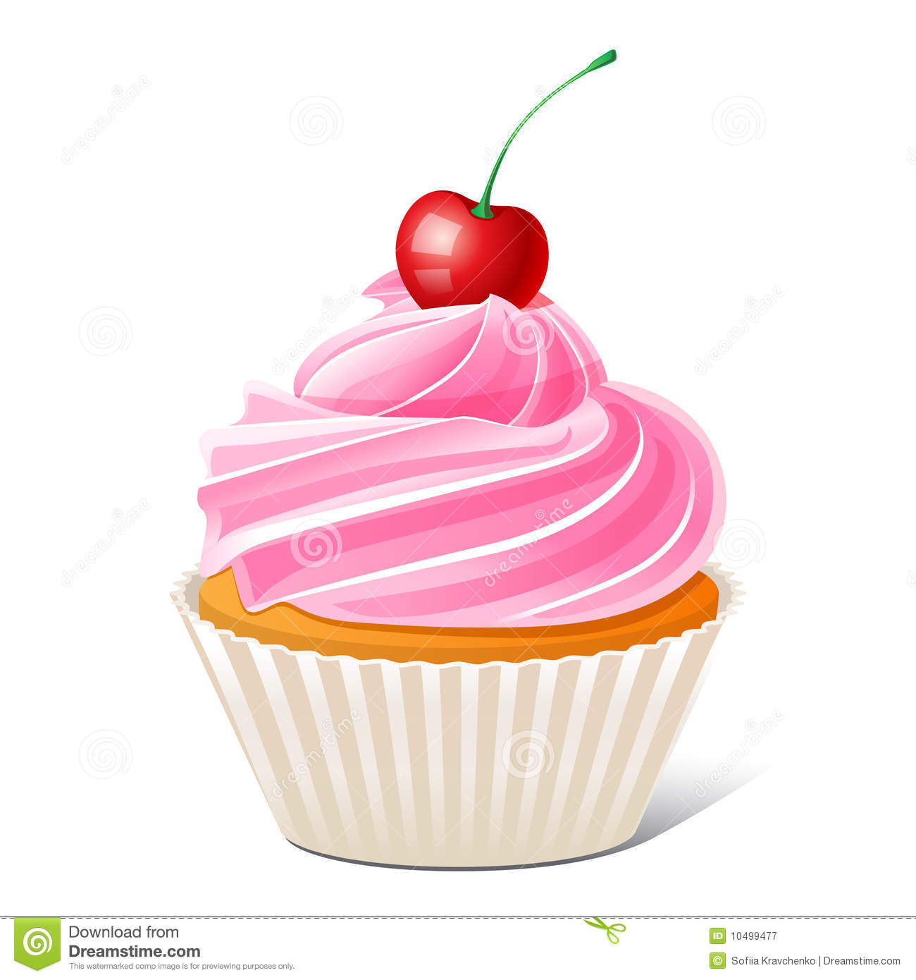 Cupcake With Cherry Royalty Free Stock Photography Image