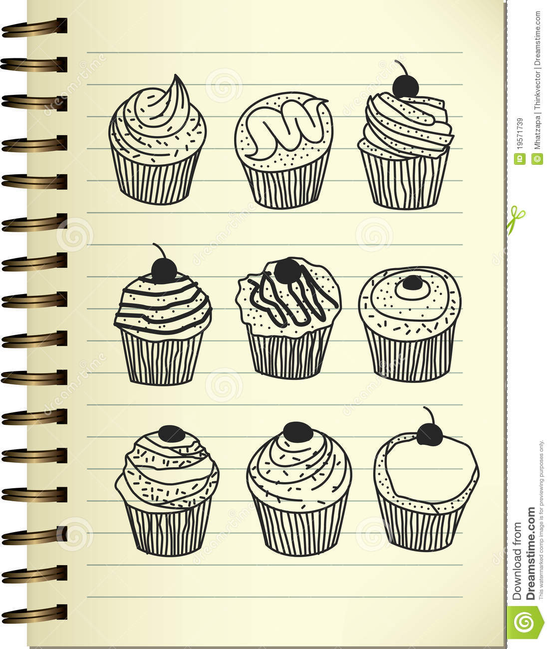 Cupcake Doodle Royalty Free Stock Images Image 19571739
