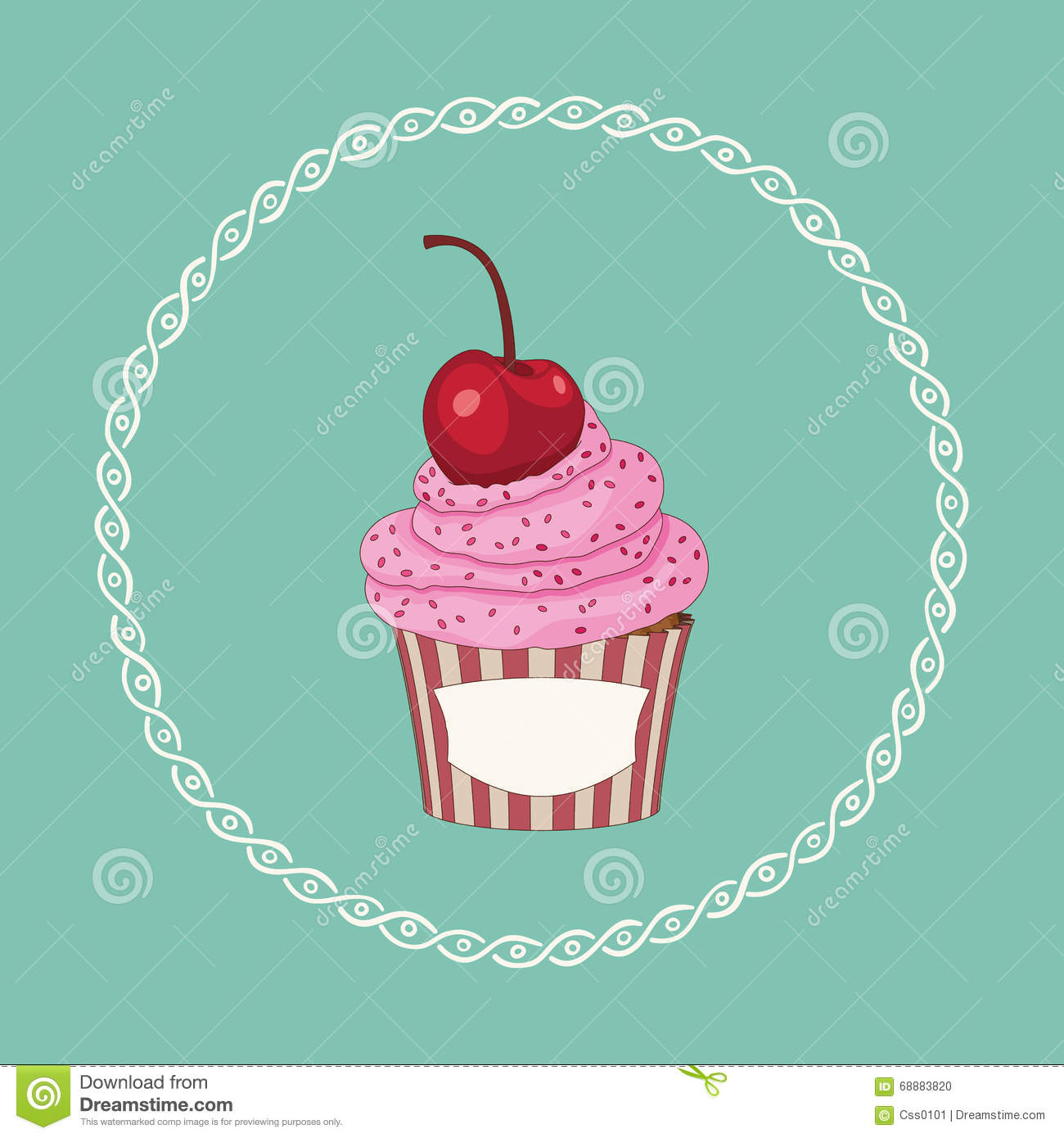 Cupcake Vector Frame Stock Illustrations – 3,701 Cupcake