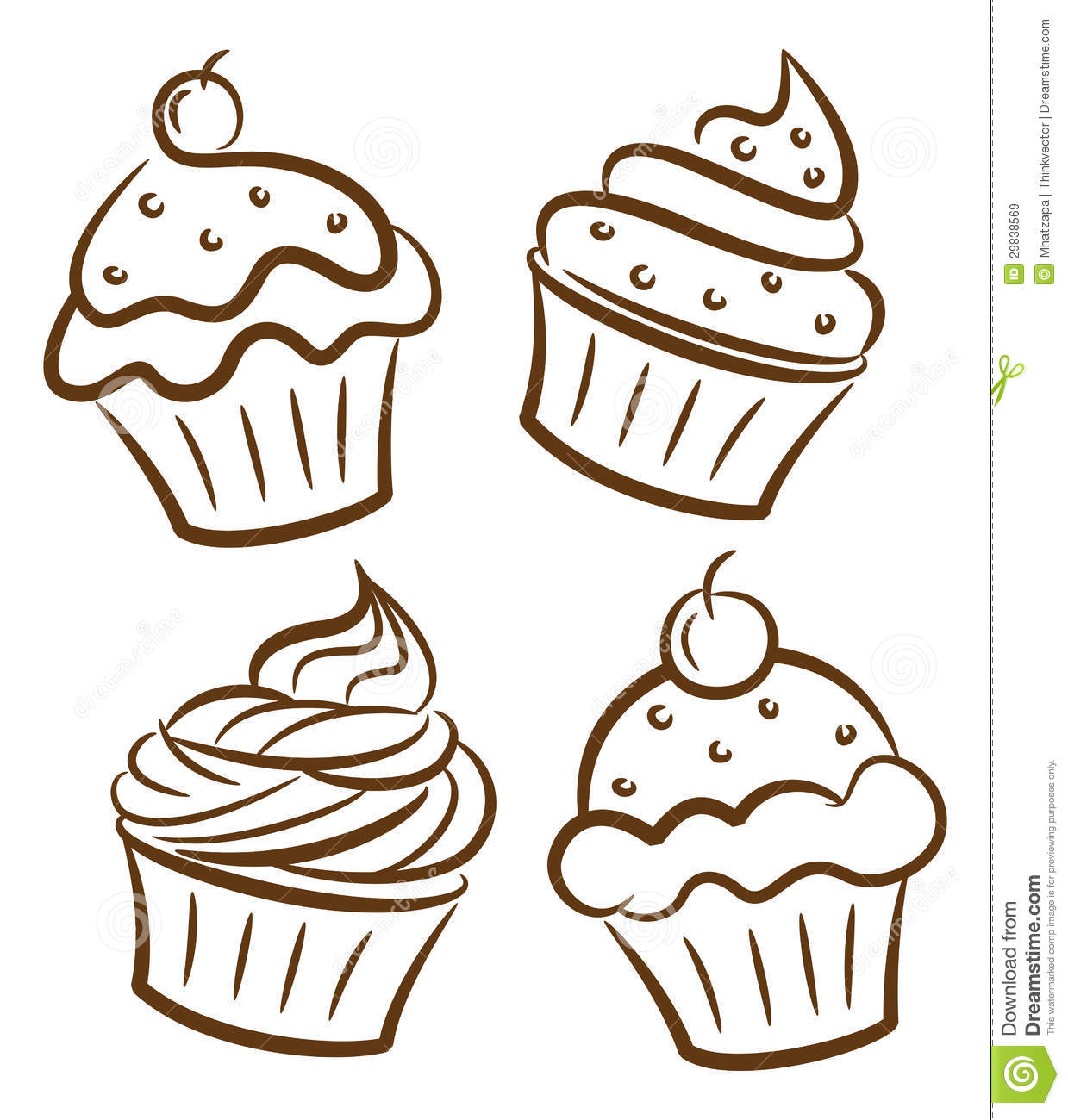 Cupcake Doodle Royalty Free Stock Images - Image: 29838569