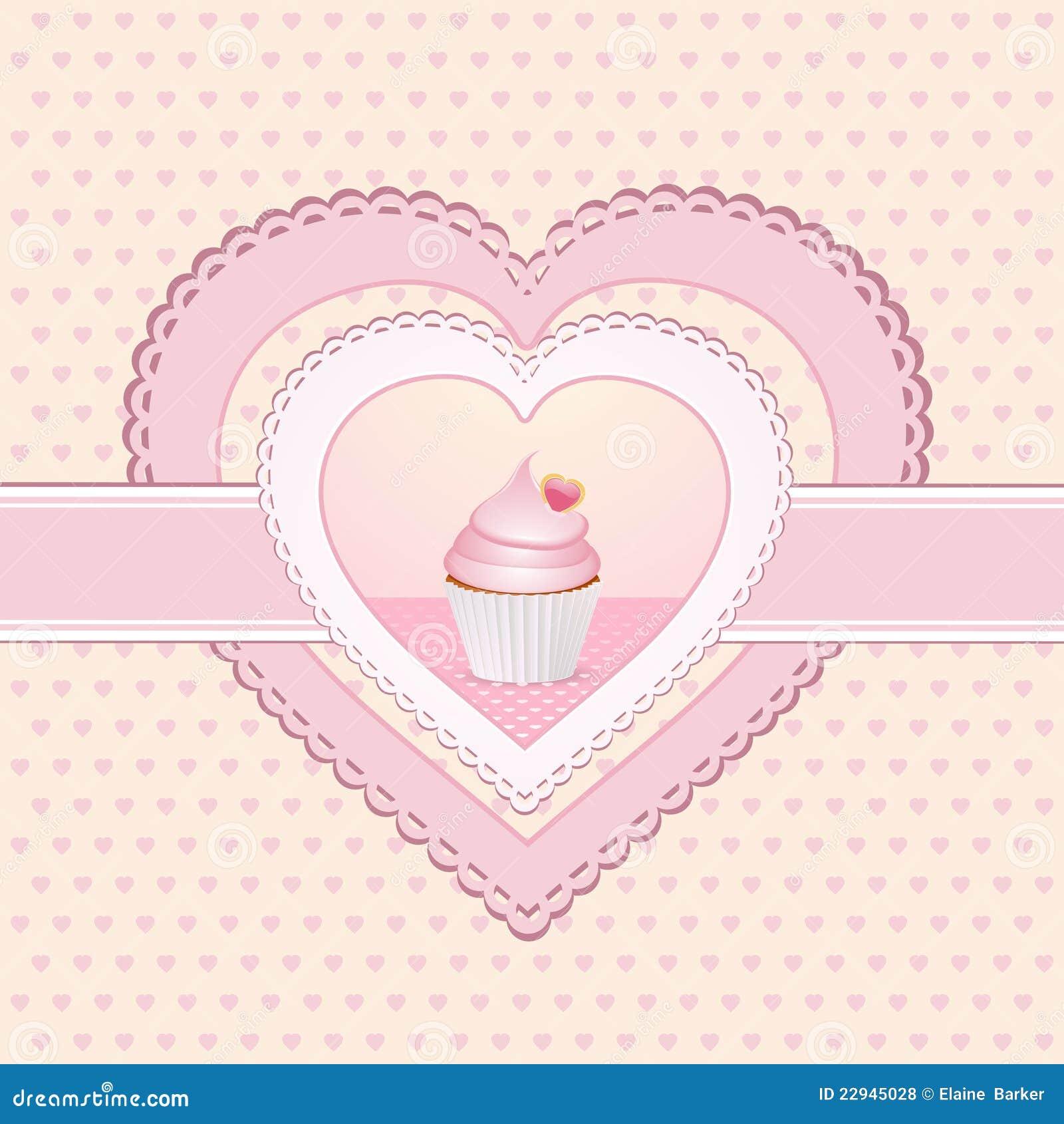 Cupcake Heart Label Royalty Free Stock Photos - Image: 22945028