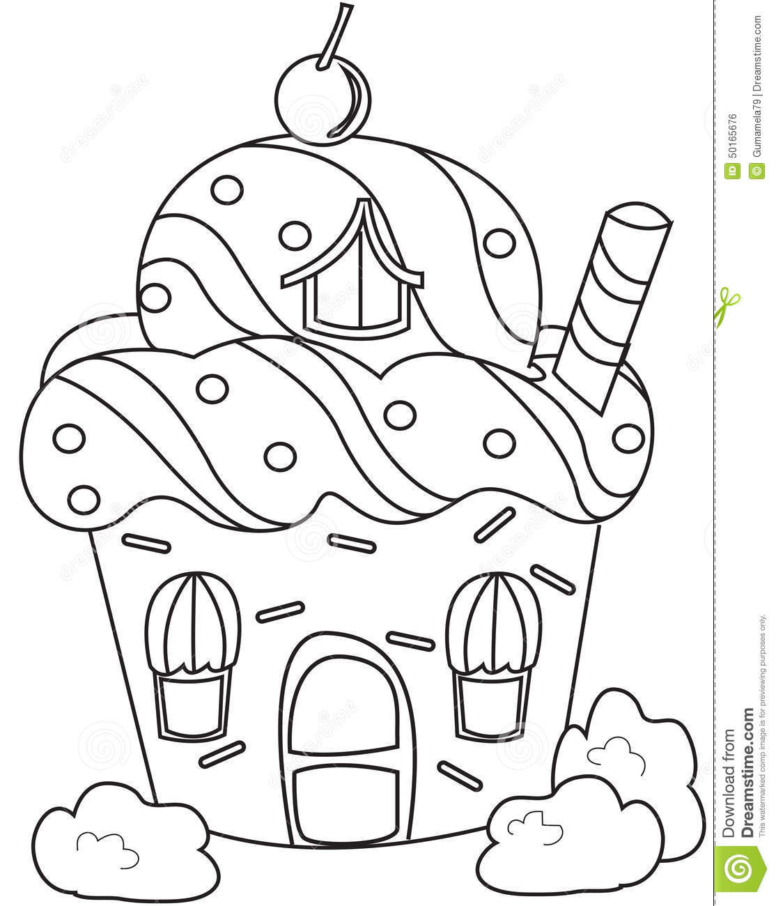 christmas cupcake coloring pages - photo#18