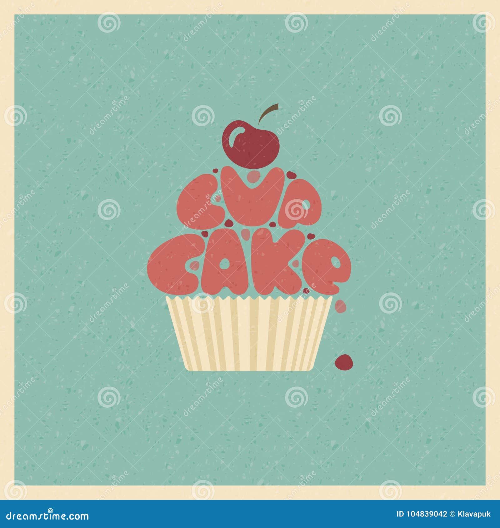 Cupcake Immagine Stilizzata Di Vettore Illustrazione