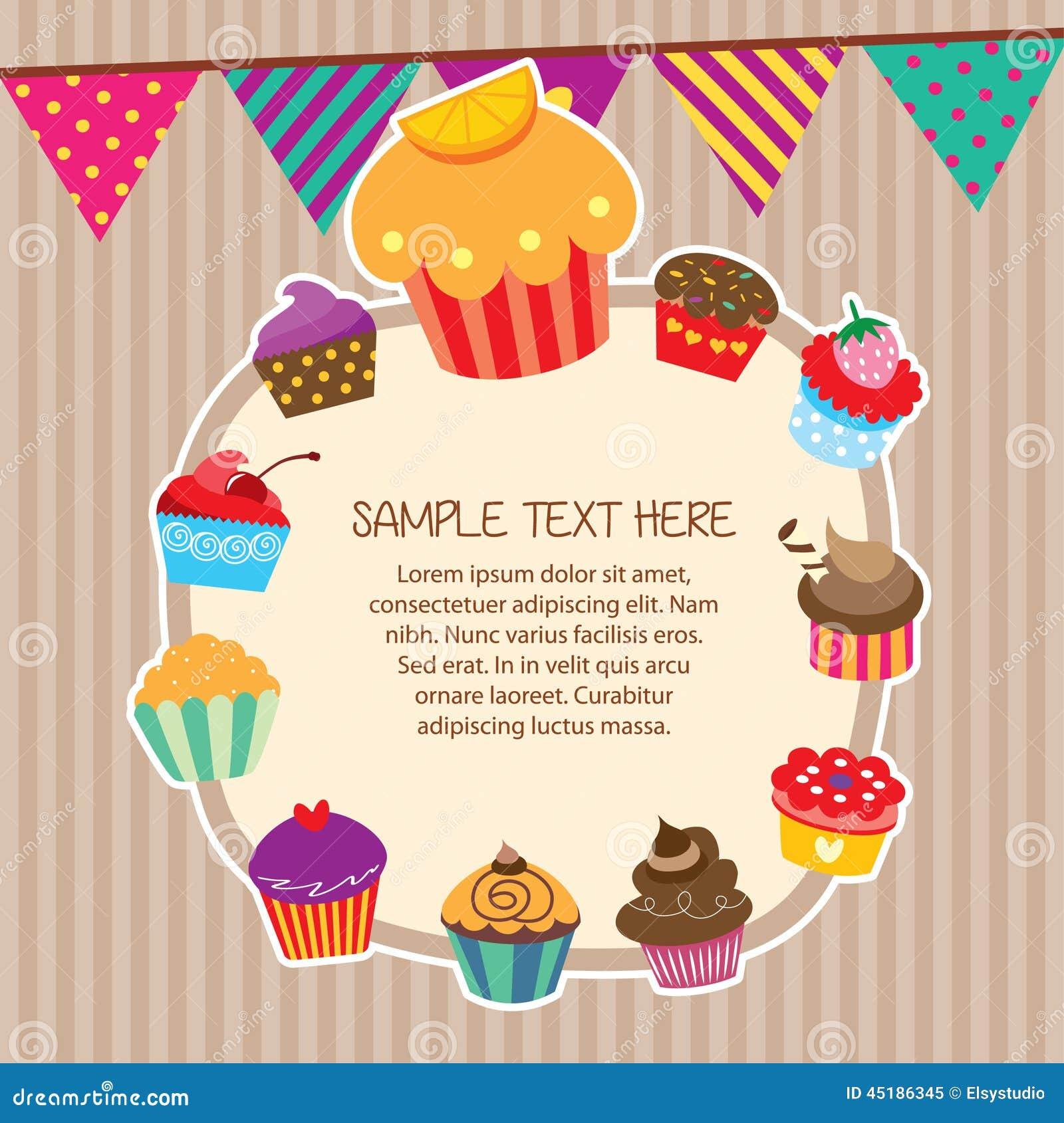 Cupcake Layout Frames Design Stock Vector - Image: 45186345