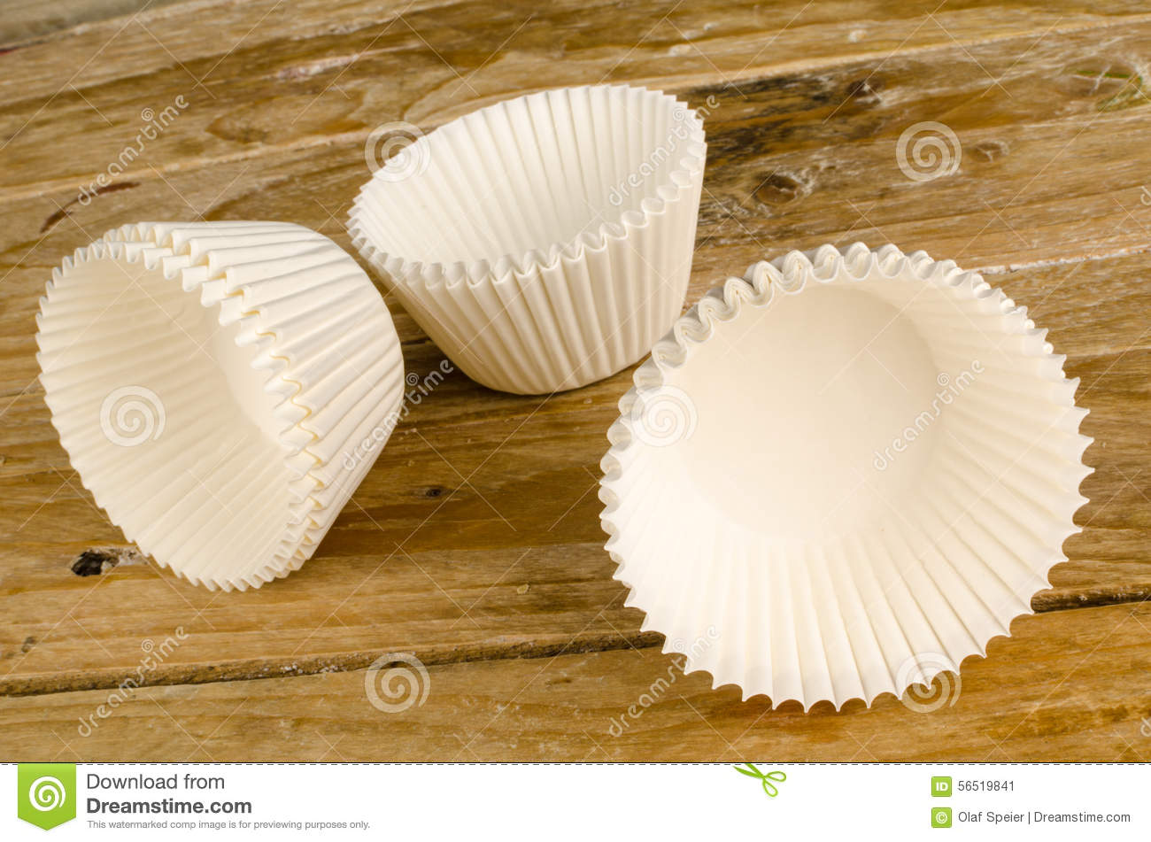 Cupcake Liners Stock Image Image Of Horizontal Wooden