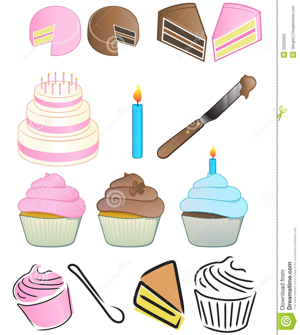 Cupcake Logo Set Stock Vector Image Of Holiday Birthday