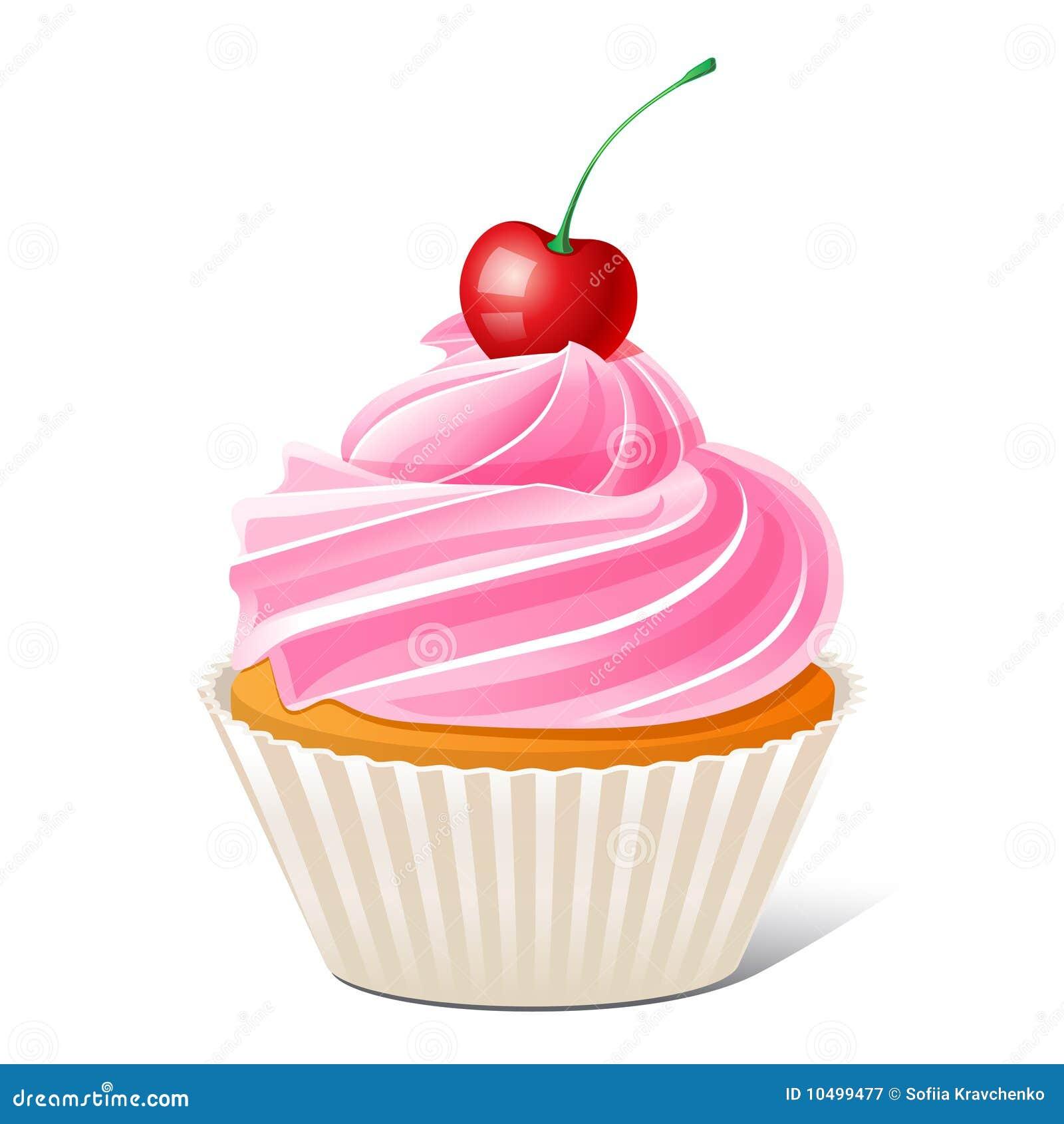 Cupcake met kers