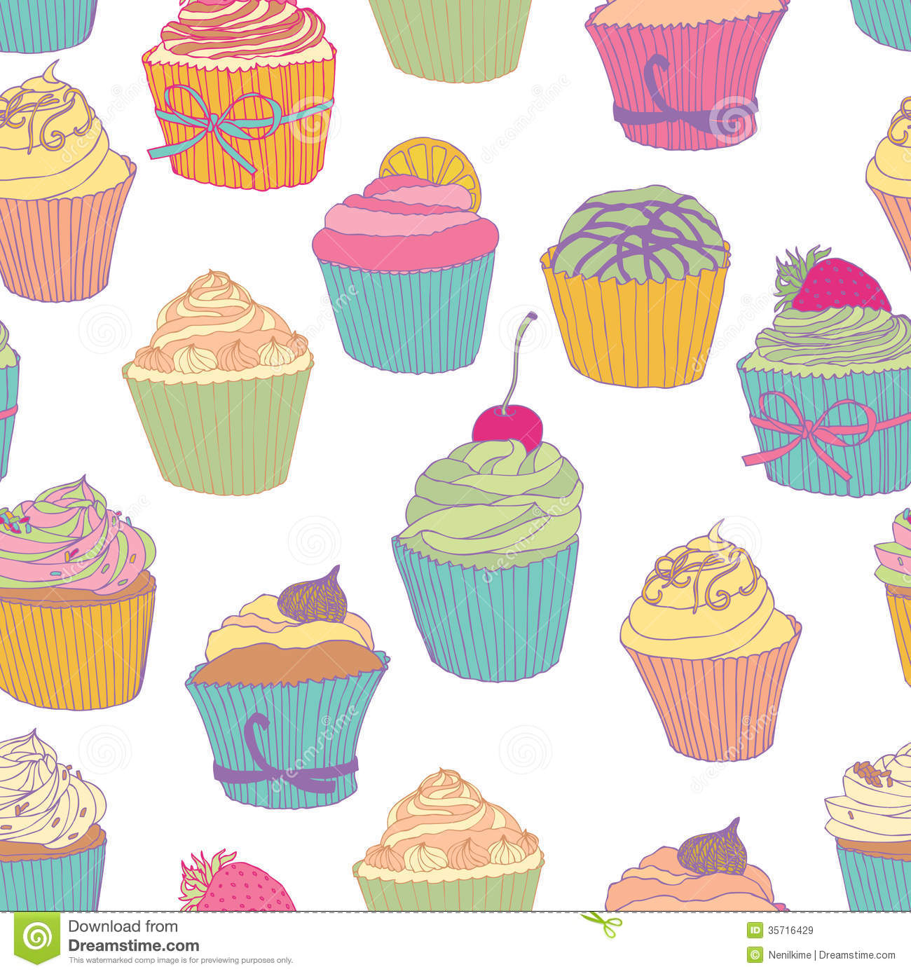 Cupcake pattern stock vector. Image of party, cubes, diet