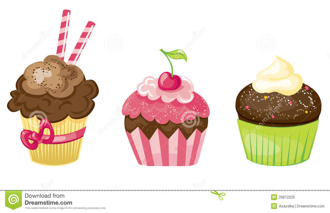Cupcake Set Stock Vector Illustration Of Artistic