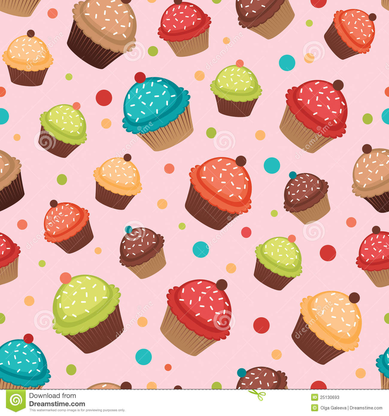 Real Cupcake Background