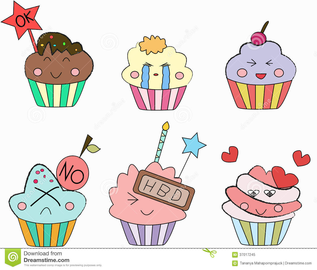 Cupcakes Emoticon Stock Illustration Image Of Delicious
