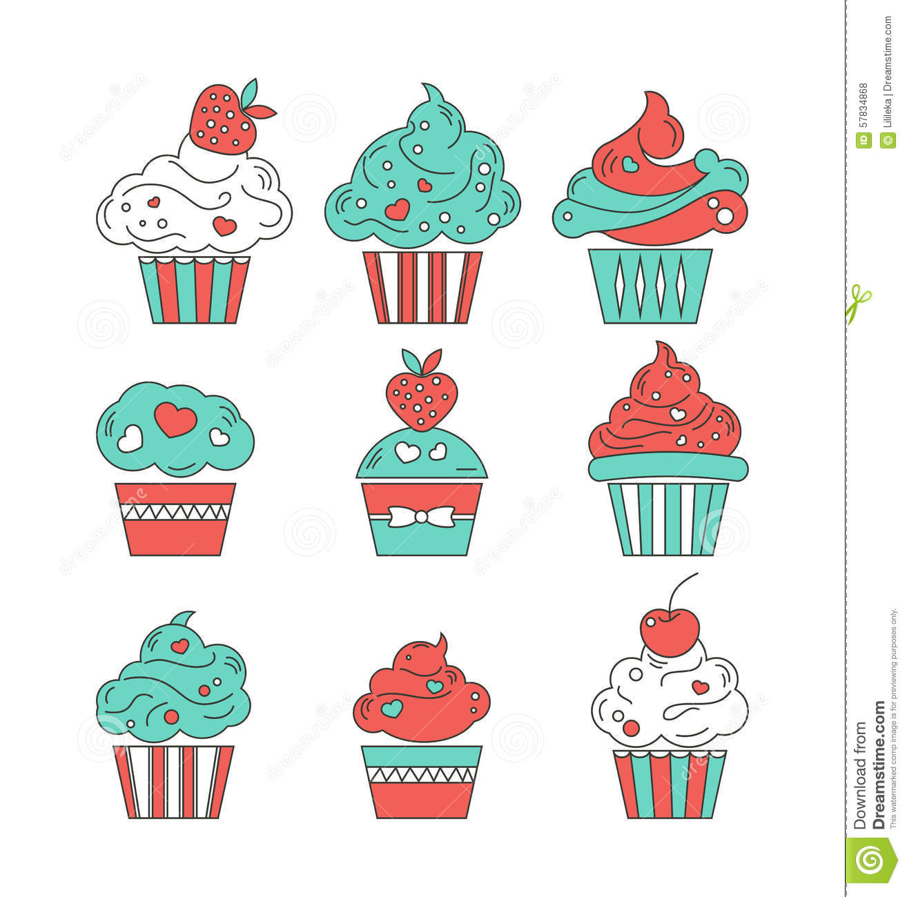 Cupcake Design Vector : The Muffin Icon. Dessert And Baked, Cake, Bakery Symbol ...
