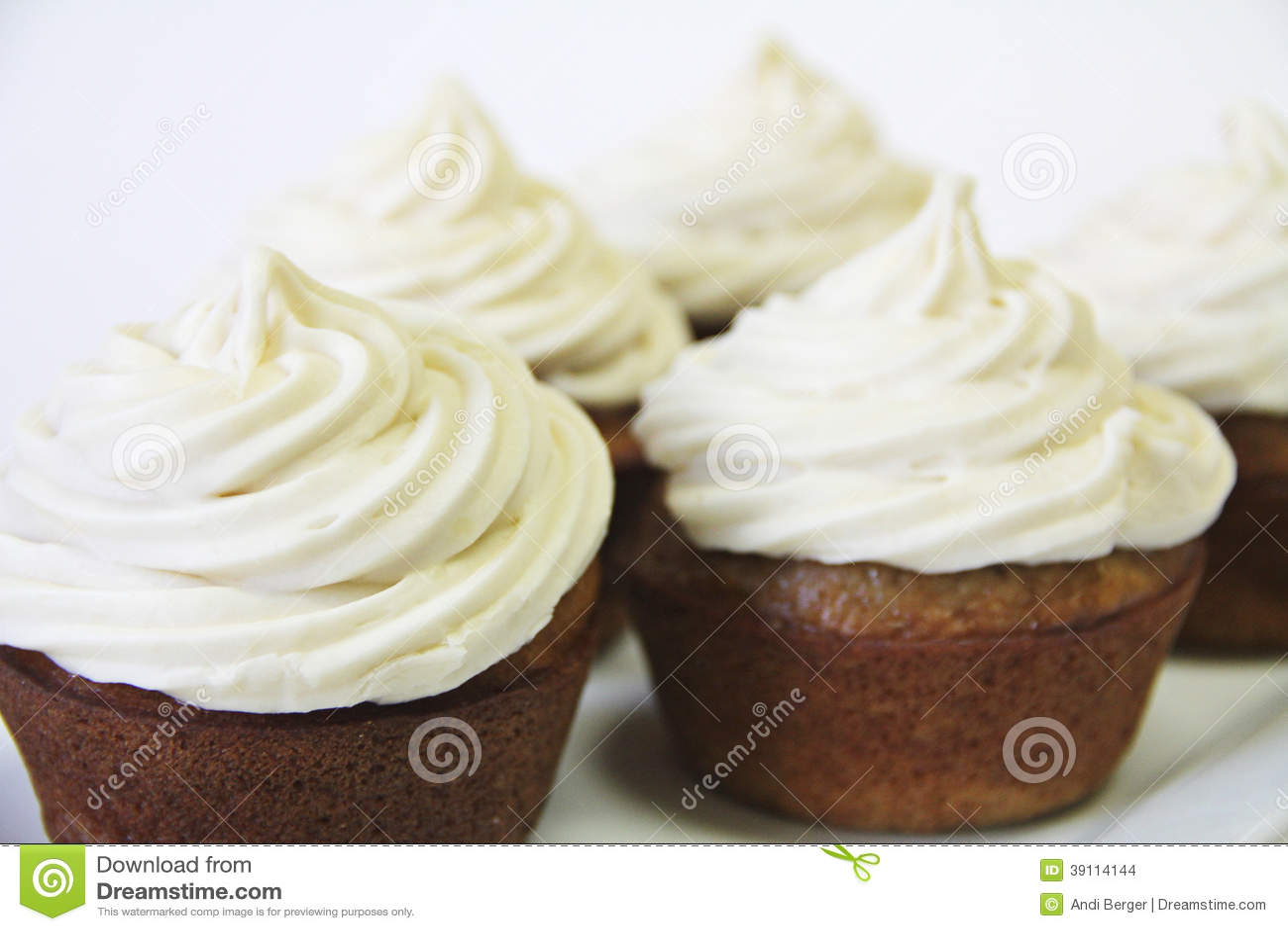 Cupcakes met het berijpen upclose