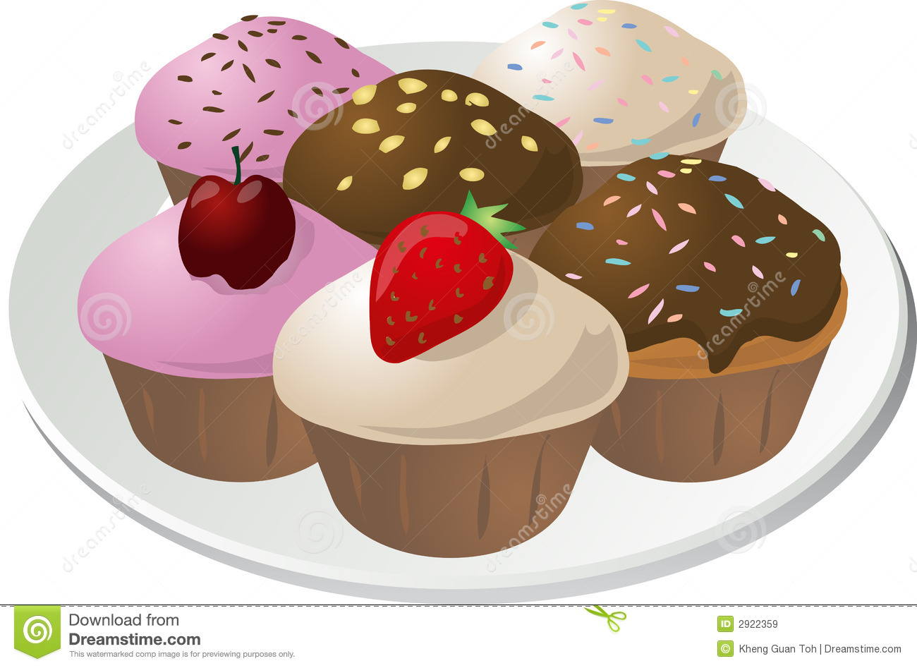 cupcakes on plate royalty free stock images image 2922359 Microsoft Free Clip Art Downloads Microsoft Free Clip Art Downloads