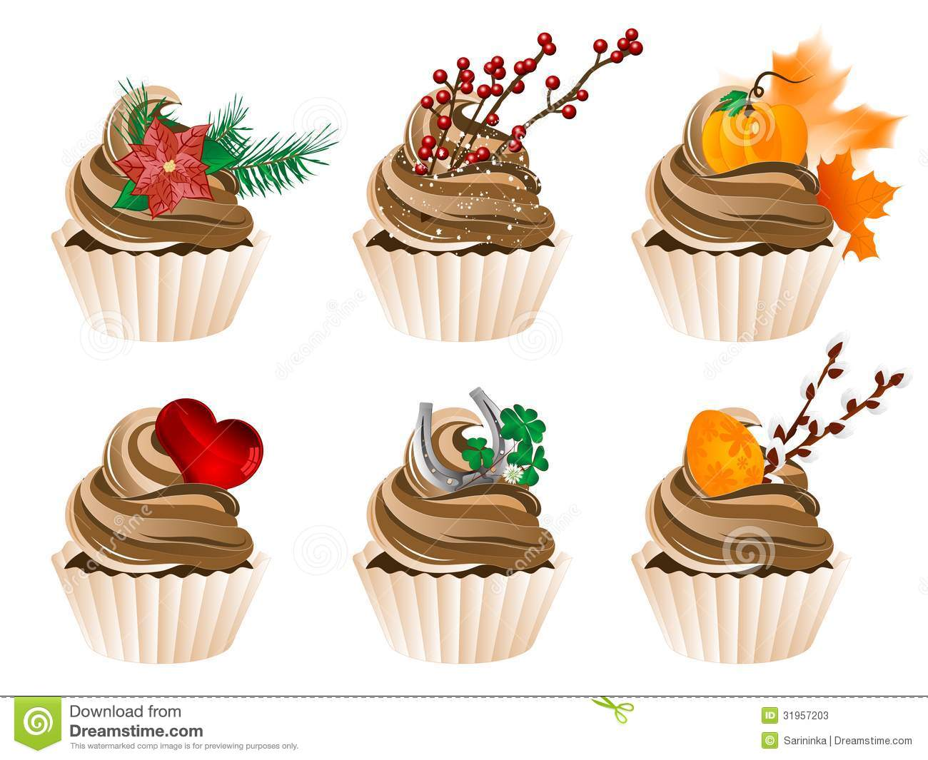 Cupcakes Stock Photos Image 31957203
