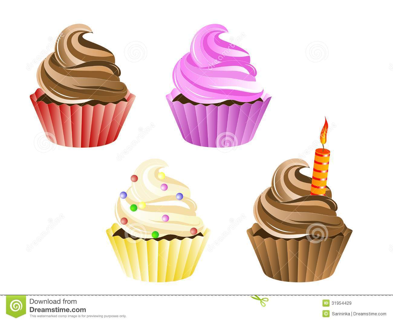 Cupcakes Royalty Free Stock Images Image 31954429