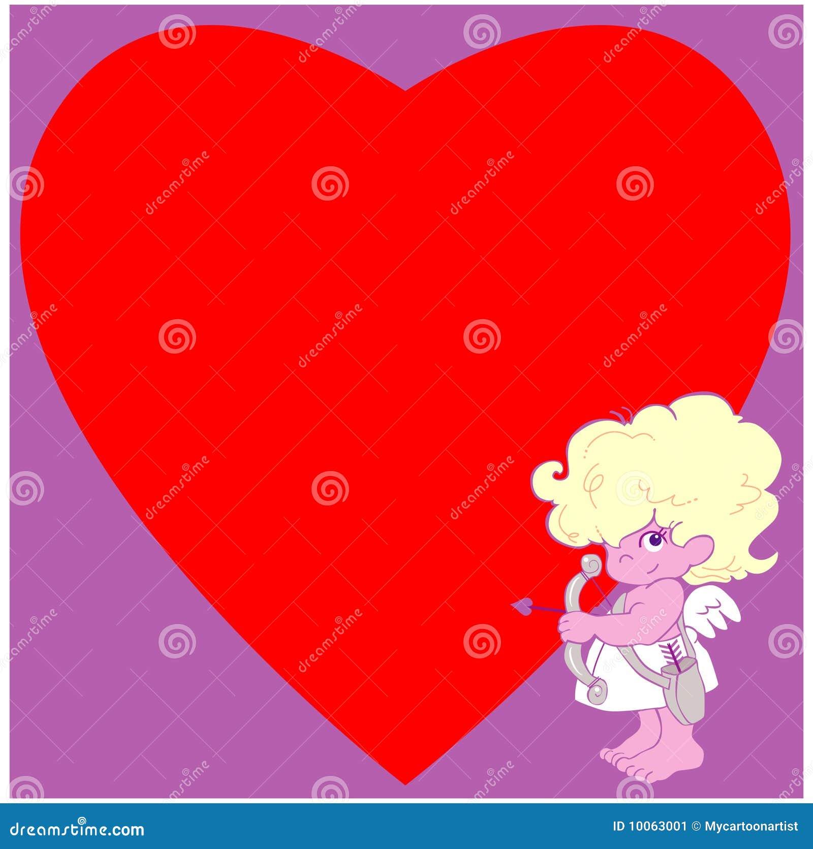 Cupid e um coração