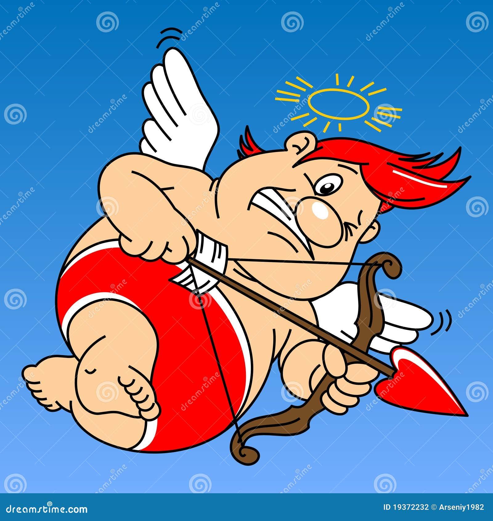 Cupid gordo engraçado
