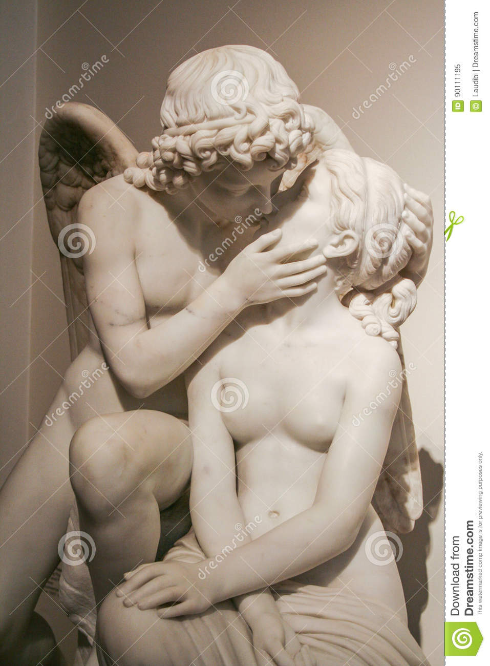 cupid and psyche by lauritz prior editorial image image of prior