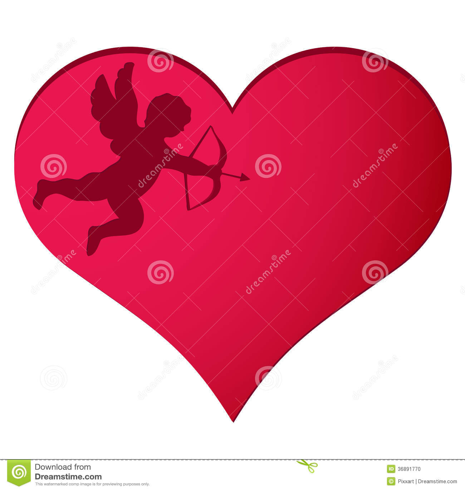 Download Cupido nel fondo del cuore illustrazione vettoriale. Illustrazione di flirt - 36891770