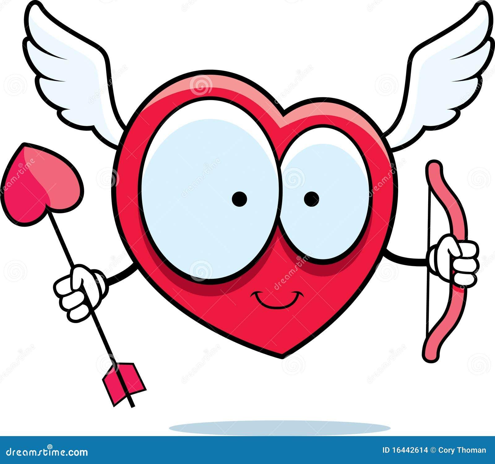 Cupidon De Coeur Illustration De Vecteur Illustration Du