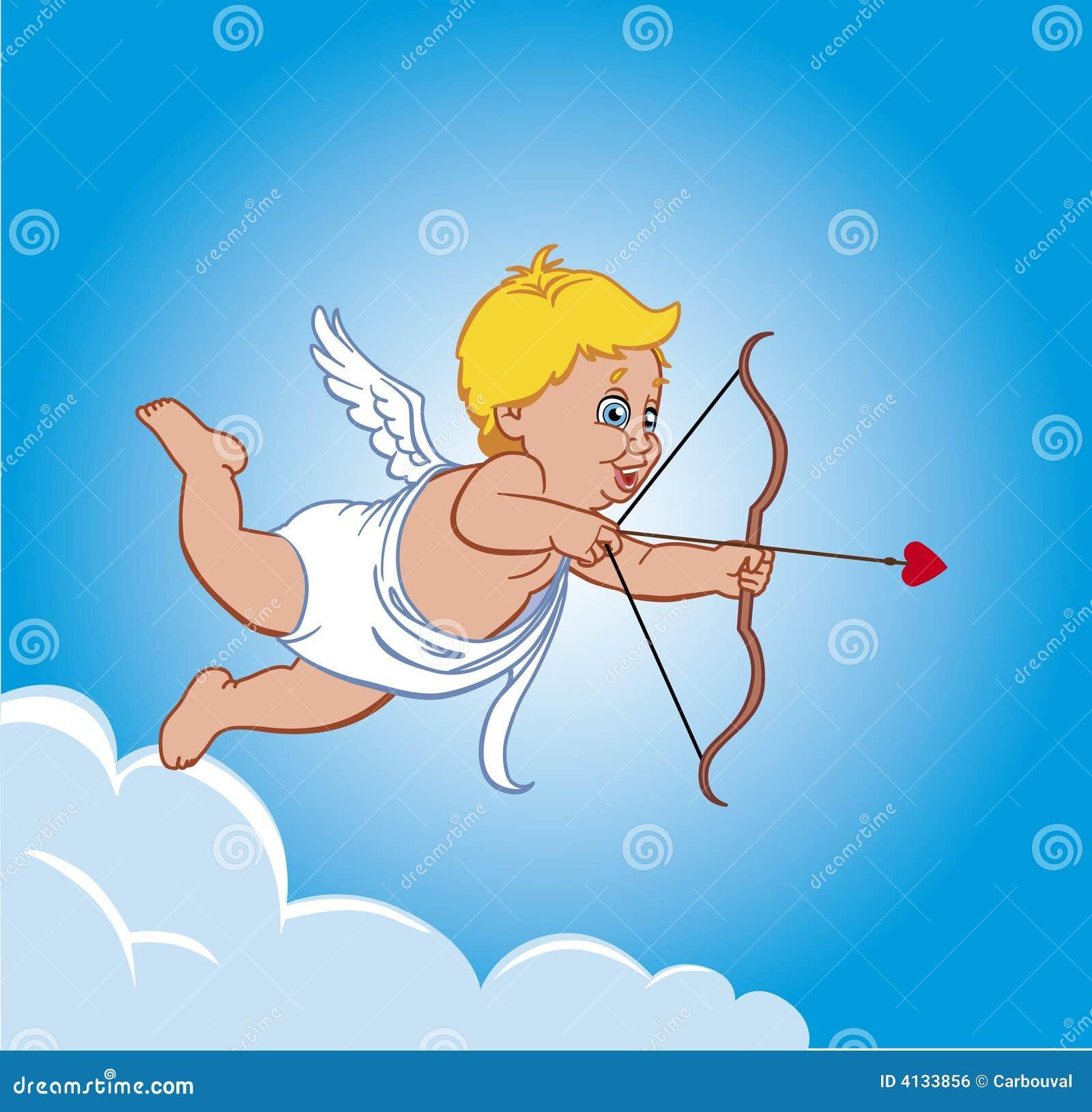Cupidon sur un nuage image libre de droits image 4133856 - Image de cupidon gratuite ...