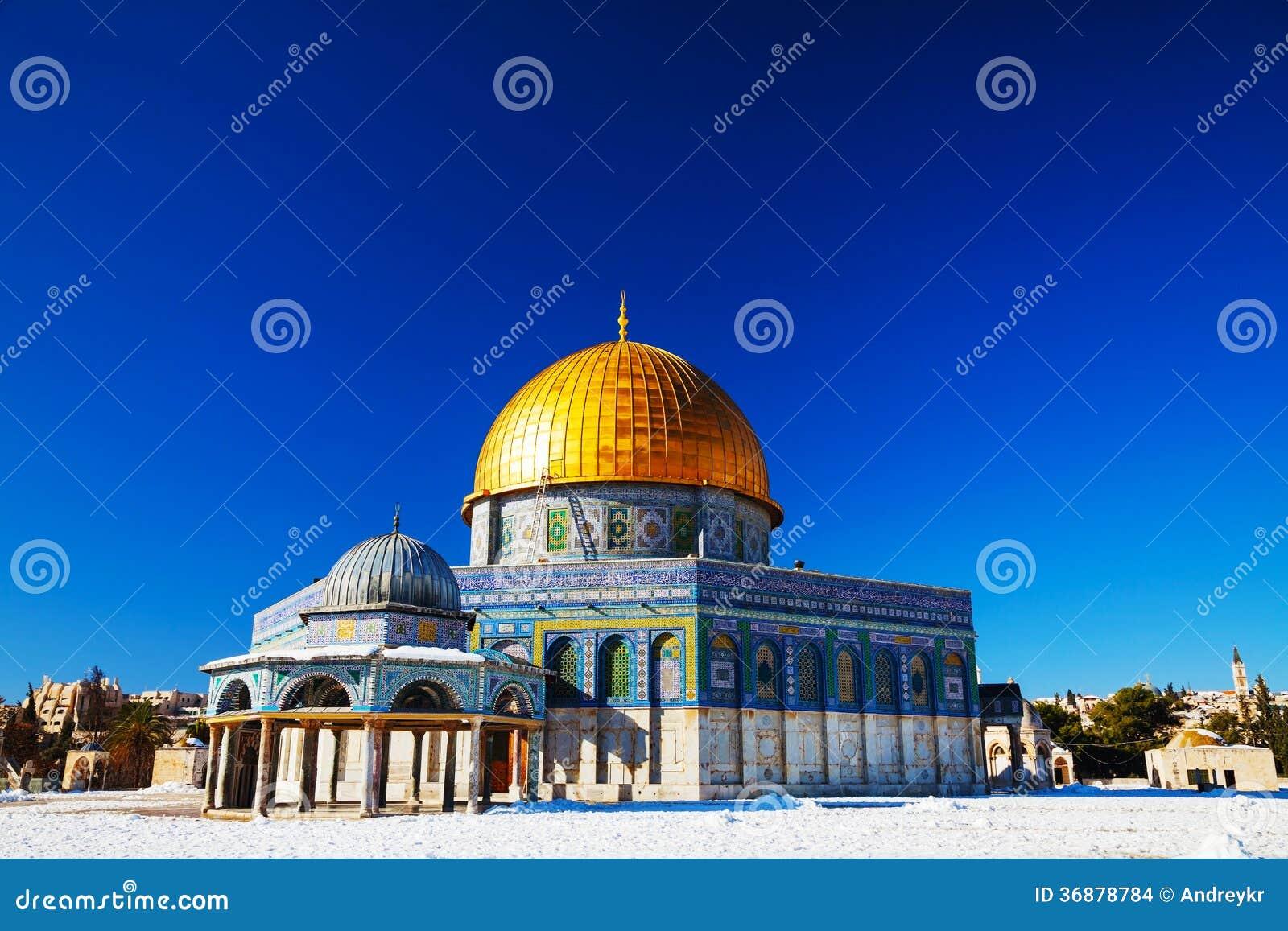 Download Cupola Della Moschea Della Roccia A Gerusalemme Fotografia Stock - Immagine di cupola, tempiale: 36878784