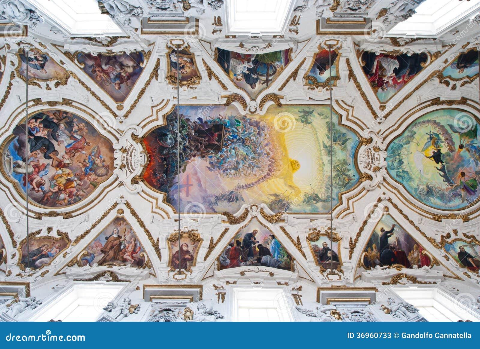 Cupola e soffitto del chiesa del gesu della la della for Creatore della pianta della casa