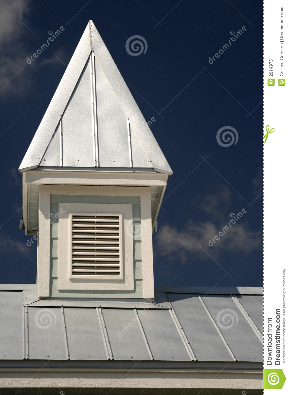 Cupola on tin roof stock image image of house roof dark for Roof cupola plans