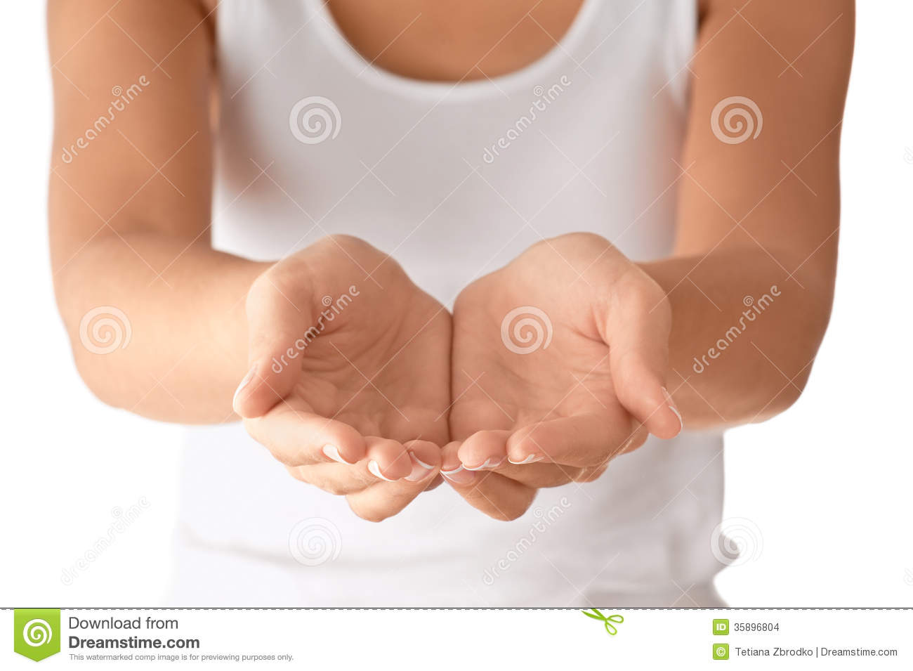 Cupped empty hands stock photo. Image of accessibility ...