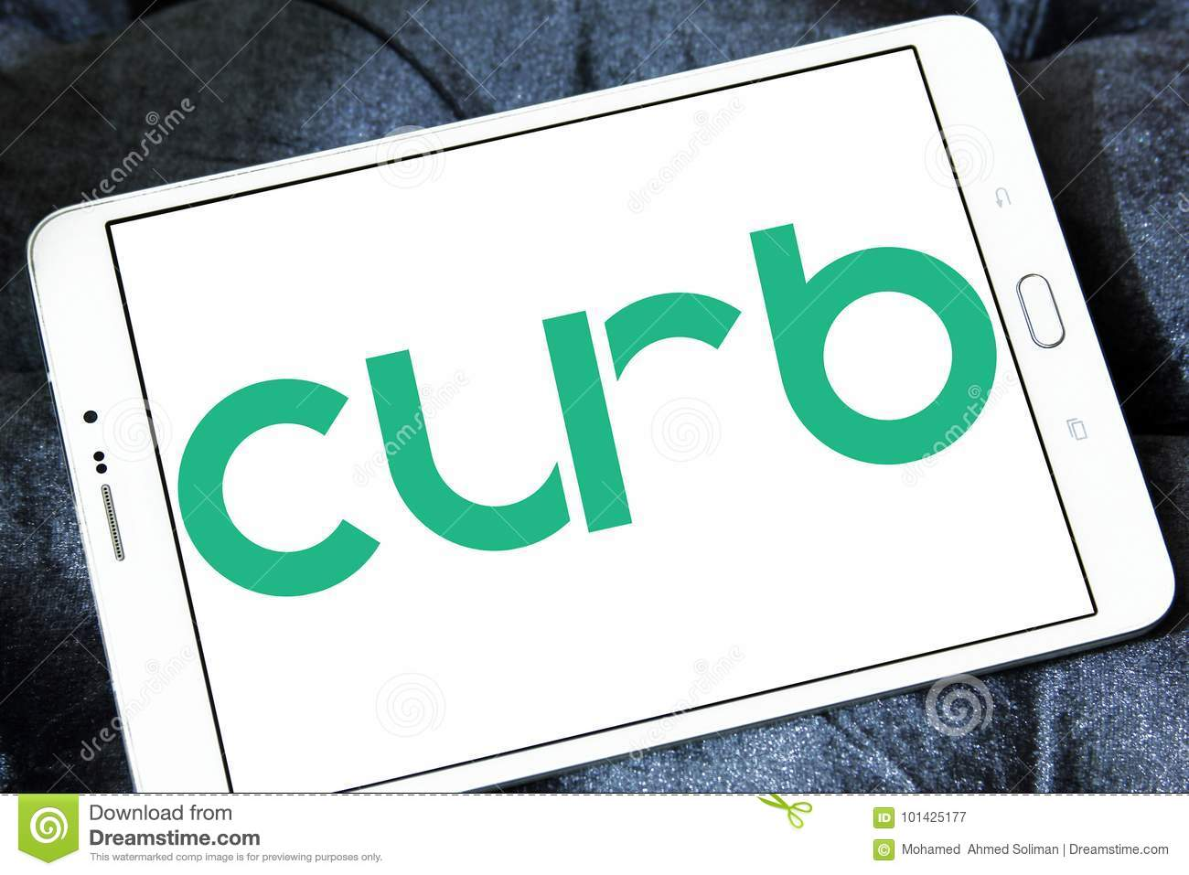 Curb taxi logo editorial photography  Image of brand - 101425177